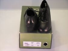 "Ray Rose Men Latin Dance Shoes UK size 4 Black Leather Heel 1.5"" New with Box"