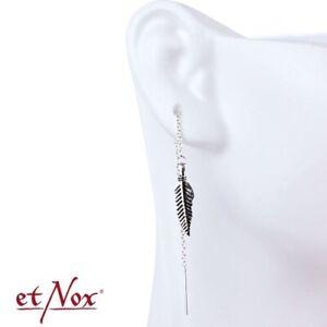 Echt etNox Feder Ohrringe 925er Silber Symbol Schmuck - Neu