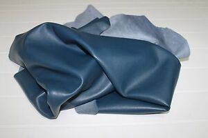 Italian Thick Lambskin Lamb Leather skin hide skins BLUE 20sqf #A2338
