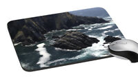 Water Hitting Rocks Mouse Pad Soft Rubber Keyboard Large Gaming Mouse Desk Pad
