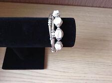 White  Disco Ball Magnetic Bracelet Cuff