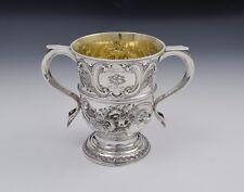 "George II Silver Twin Handled Loving Cup ""Feast Of Saint Joseph"" Georgian"