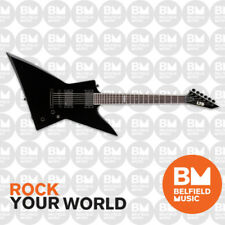 ESP LTD EX Series EX-401 Electric Guitar Explorer Black Mahogany w/ EMGs EX401