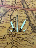 Zeigersatz Weiss/Weiss Chronograph NOS Style Retro für ETA Valjoux 7733