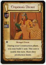 Emperor's Decree - Age Of Empires ECG CCG Card (C96)