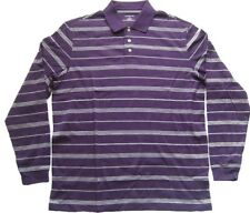 LANDS' END Poloshirt Lila-Weiß gestreift Gr. M