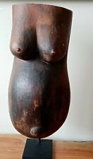 Makonde African Tribal Pregnant Belly Body Fertility Mask w/Stand