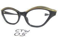 1950s/60s Real Vintage Cat Eye Eyeglasses Frame in Gold (CTW-05)