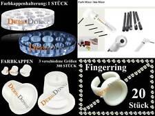 Microblading Permanent Make Up Tatoo Farbkappen/Farb-Mixer/Fingerring - 322 tlg