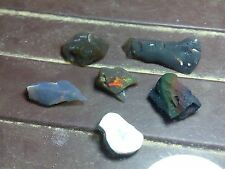 Natural Kalimaya Opal Rough Indonesian Black/Crystal 21 cts 6 pieces