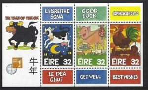 IRELAND 1997 HONG KONG YEAR OF THE OX MINIATURE SHEET UNMOUNTED MINT, MNH