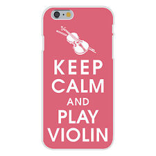 Keep Calm & Play Violin Instrument FITS iPhone 6+ Plastic Snap On Case Cover New