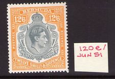 BERMUDA GEORGE VI 12/6 SG120e June. 51 Ptg. lightly hinged