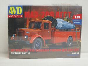 Bausatz MAZ-200 Fire Engine Feuerwehr, OVP, AVD Models, 1:43, ungeöffnet