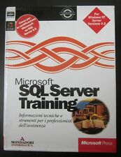 MICROSOFT SQL SERVER training versione 6.5 volume 1-2 no CD-ROM autoistruzione