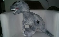 "Jurassic World Indominus Rex Dinosaur Gray Plush 16"""