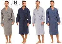 Haigman Mens Gents Poplin 100% Cotton 7396 Lightweight Dressing Gown Wrap