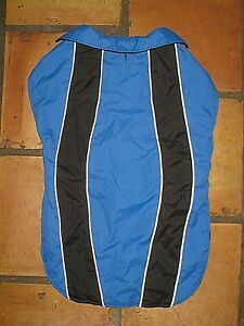 PETCO BLUE BLACK WATERPROOF REFLECTIVE DOG COAT JACKET SIZE XXL XXXL 50-85 LBS