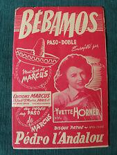 BEBAMOS - PEDRO D'ANDALOU joués par Yvette Horner - Partition de MARCUS, EDITEUR