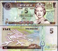 FIJI 5 DOLLARS QE II 2002 P 105 UNC