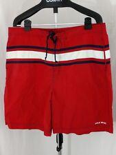 Ralph Lauren Vintage Polo Sport Red striped Swim Trunks XXL