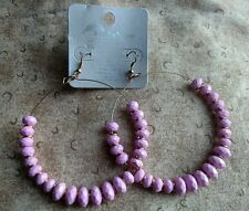Rainbow Jewelry New Pink Hoop earrings dangly ear rings lead free ladies girls
