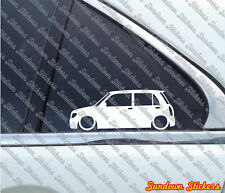 Lowered car outline stickers - for Daihatsu Cuore / Mira 5-door L700 (1998-2002)