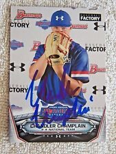Chandler Champlain Signed 2017 Bowman Under Armour All-American Auto Card
