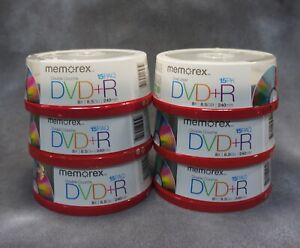 New Memorex 15 Pack DVD+R 8x 8.5 GB 240 min Discs Dual (double) Layer Couche X6