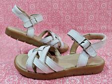 Stride Rite Millie White Leather Summer MJ Sandals Comfy Toddler Girl's 10M