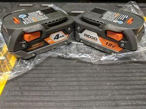 2 NEW Ridgid R840087 Genuine OEM 18V Lithium-Ion 4Ah Battery AC840087P