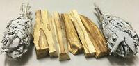 6 Palo Santo Sticks & 2 White Sage Smudge Torch | Smudge Kit Refill