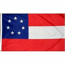 3x5 CSA Southern States Stars and Bars 7 Flag First National Flag House Banner