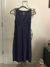 Ann Taylor Dress Deep Eggplant Color Or Purple Shade Women's Size Small