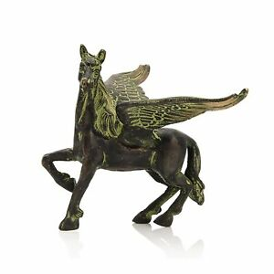 Brass Flying Angel Horse Statue Pegasus Animal Feng Shui Figurines Home Decor