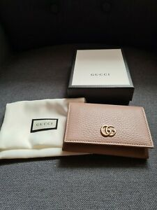 Gucci GG Marmont 2.0 Flap Wallet Card Case Dusty Pink Brand New Sold Out