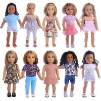 18 inch American Girl Doll Clothes Accessories Handmade Dress Doll Set #4