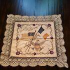 Antique WW1 Commenmorative Embroidered French Silk Satin Lace Souvenir Piece