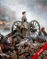 SPANISH LADY WAR HERO AGUSTINA DE ARAGON PAINTING HISTORY ART REAL CANVAS PRINT