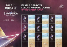 Israel Stamps 2019 MNH Eurovision Song Contest Music My Own Stamp 9v M/S