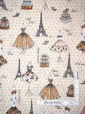 Paris Fashion Fabric - Shoes Dress Tower 1569 Robert Kaufman City Chic - Yard