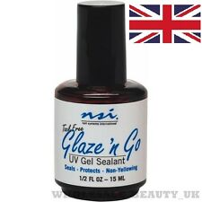 NSI Glaze N Go  UV Gel Top Coat  Seals & Protects Nails 15ml