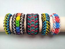 Lot of 5 Rainbow Loom Bracelets - Galaxy, Starburst, arrow etc