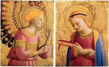 Fra Angelico: The Archangel Gabriel and the Virgin Annunciate: 2 Fine Art Prints