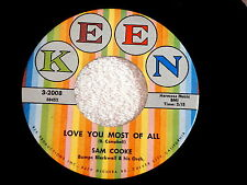 SAM COOKE~LOVE YOU MOST OF ALL~KEEN~BLUE MOON~~ NORTHERN SOUL 45