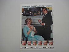 advertising Pubblicità 1986 YOGURT YOMO
