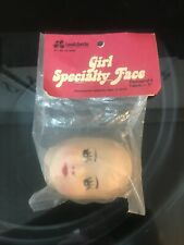 "Vintage Nos Leewards Girl Specialty Face, 3"", Pack of 6"