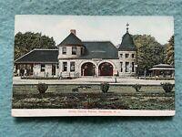 Jersey Central Station, Somerville New Jersey Vintage Train Postcard