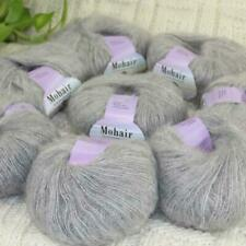 Sale New 8BallsX25g Luxury Soft Mohair Warm Wrap Shawl Hand Knit Crochet Yarn 13