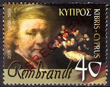 CYPRUS 2006 REMBRANDT VAN RIJN - SPECIMEN MNH